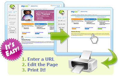Enter a URL, Edit the Page, Print It